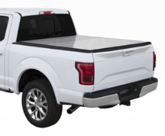 "( 6'8"" Bed ) 2019-2017 Super Duty Ford F-250/F-350/F-450 / Tri-Fold / Lomax Pro Diamond Plate"