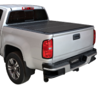 "( 5'6"" Bed ) 2018-2007 Toyota Tundra ( WITH Deck Rail ) Lomax Tri-Fold Bed Cover"